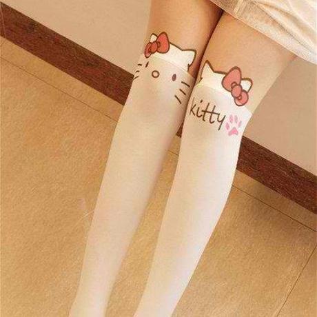 0acc634a2e0003 HARAJUKU KITTY STOCKINGS Cat Fashion