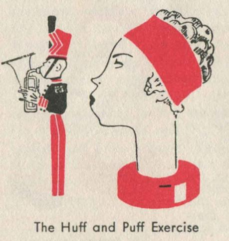 1930s-Beauty-Booklet---Three-One-Minute-Exercises---Huff-and-Puff