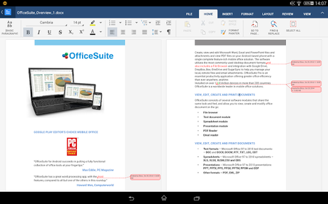 OfficeSuite 8 + PDF to Word - screenshot
