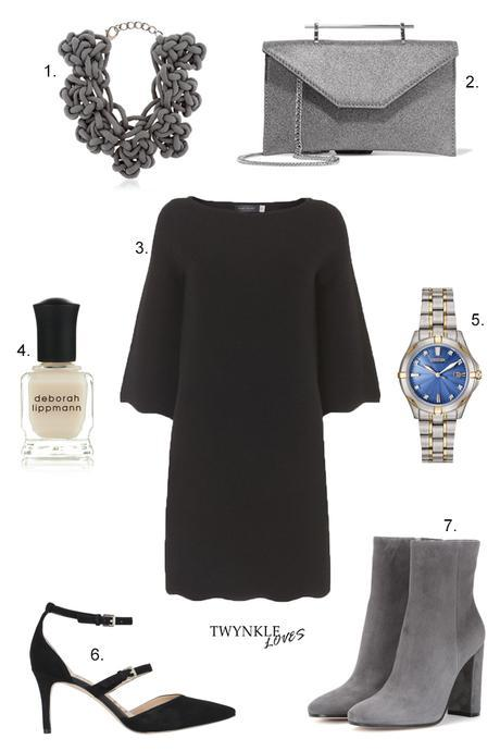 OUTFIT EDIT | DRESS WITH GREY ACCESSORIES