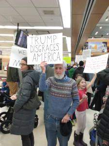 Protesting Trump's assault on American values