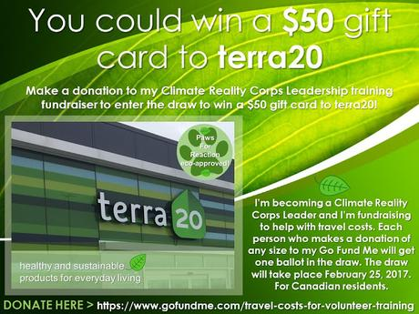 #GIVEAWAY Make a small donation & #WIN $50 #terra20 gift card