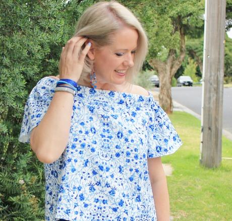 My Summer Style - off the shoulder top - and accessorizing