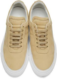 Beautifully Balanced:  Public School Beige Leather Braeburn Sneakers