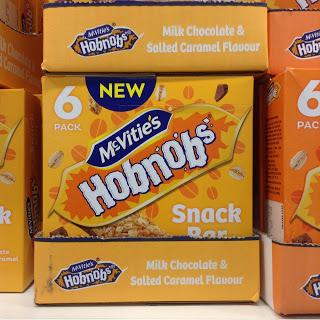 mcvitie's hobnobs milk chocolate and salted caramel flavor snack bars