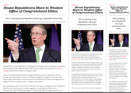 Digital Design Challenge: Those article pages move up front