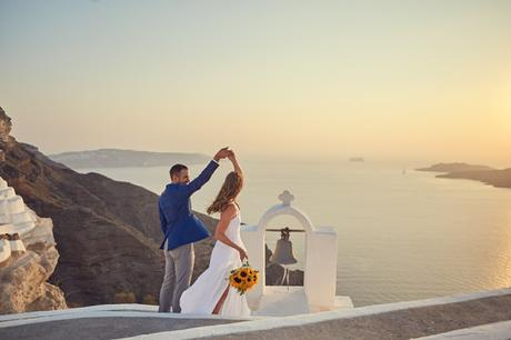 Santa Irene, Santorini cute, romantic wedding