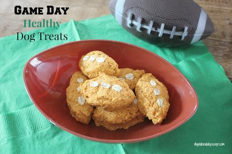 Healthy homemade dog treats for the super bowl