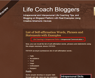 Create Breadcrumbs Navigation in Blogspot Blogger