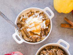 Pear Apple Crisp (Gluten Free, Paleo + Vegan)