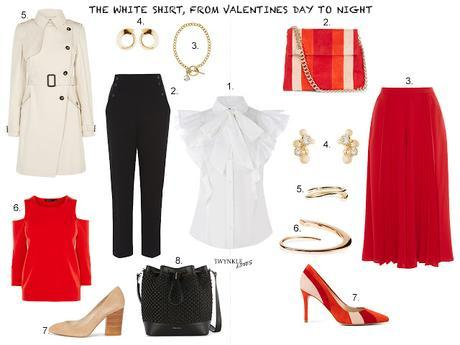 OUTFIT EDIT | THE WHITE SHIRT, FROM VALENTINES DAY TO NIGHT