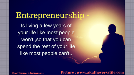 Living like an Entreprenuer! #guestpost