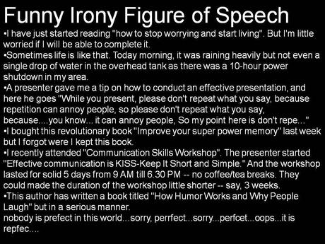 Funny Irony Figure of Speech Examples