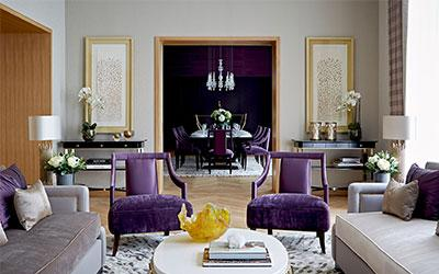 purple chairs combination