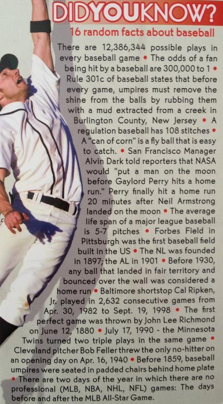 16 random facts about baseball