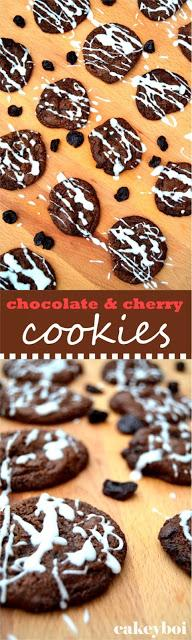 Chocolate and Cherry Cookies