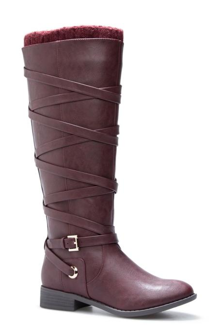 tall boots, winter boots, oxblood boots