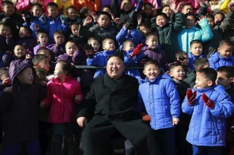 Kim Jong Un Visits School for Orphans