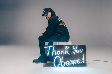 "Chance The Rapper Models  ""Thank You Obama"" T'Shirt Line"