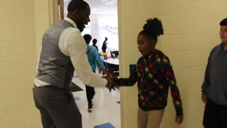 When Your Teacher Is Dope You Get Customized Handshakes To Start Class