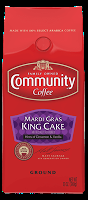 Celebrate Mardi Gras with Community Coffee Company's Limited Edition King Cake Flavor!