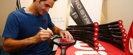 Roger Federer To Auction Off 18 Autographed Commemorative ProStaff RF 97 Rackets