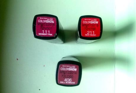 Maybelline colorshow lipsticks review