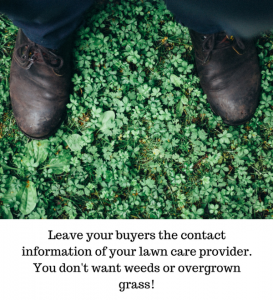 Leave buyers lawn care contact