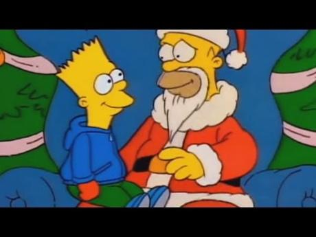 Image result for homer simpson santa