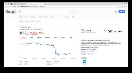Tucows Down Over 10% in After Hours Trading After Earnings Release to $43.25