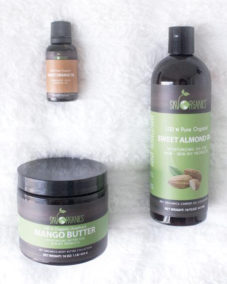 Sky Organics Review, Mango Butter, Almond Oil