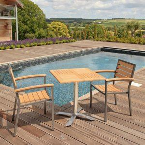 And Viro fiber resin: weatherproof outdoor plastic furniture