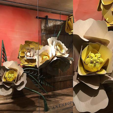 Anthropologie Window Paper Flowers - Chelsea Market, New York