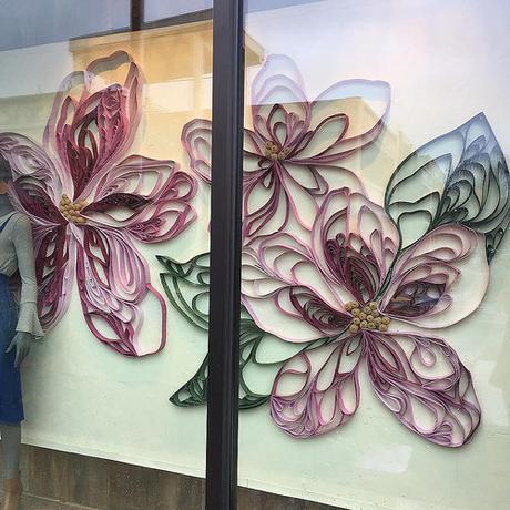 Anthropologie Window Quilling - Palo Alto, California