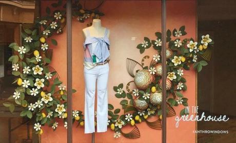 Anthropolgie Window Quilling - Carmel Plaza, Carmel-By-The-Sea, California
