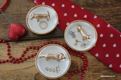 diy dog ring holder Valentine gift