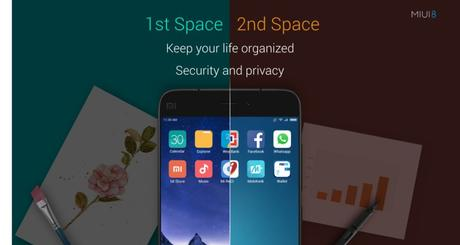 MIUI 8 Dual space feature