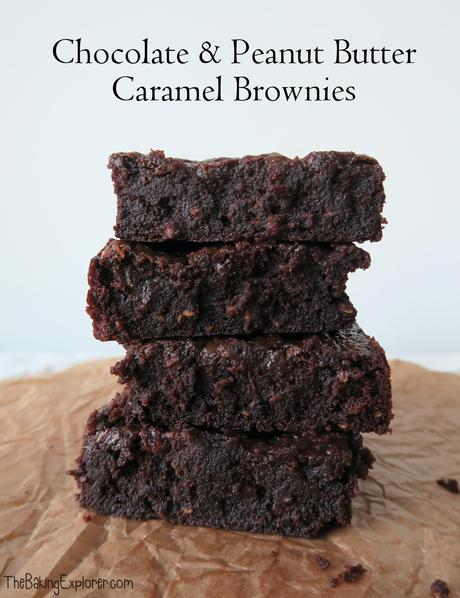 Chocolate & Peanut Butter Caramel Brownies (Vegan)