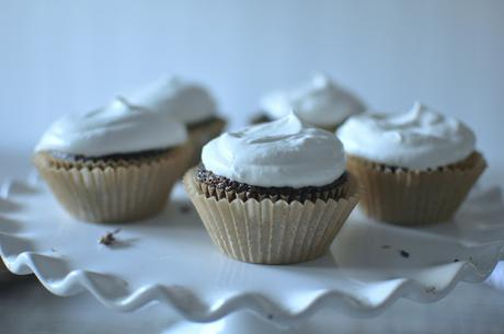 Salted chocolate lavender cupcakes with honey coconut cream and some exciting news!