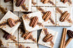 Chai Cheesecake Bars (Gluten Free, Paleo + Vegan)