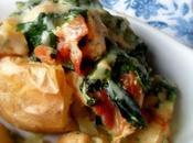 Chicken Pancetta Stuffed Jacket Potatoes