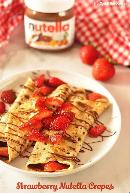Strawberry Nutella Crepes #BreadBakers