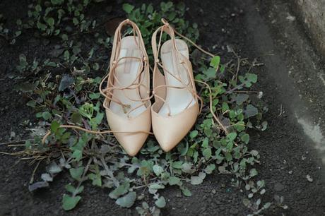 Dorothy PerkinsDarcy Pink Tie Up Stilettos