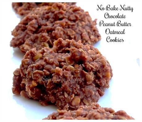 No-Bake-Nutty-chocolate,-peanut-butter- oatmeal-Cookies-veg-spicy-recipes