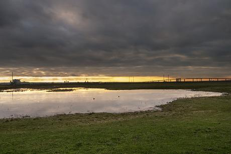 setting Sun over Elmley NNR