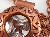 Etched Copper with Chain Pendant Etche...