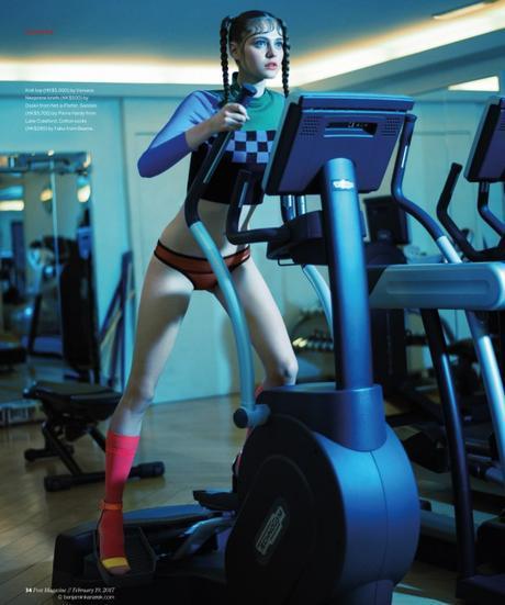"""Nataliya Bulycheva for SCMP Post in """"A Bit of a Stretch"""" by Benjamin Kanarek"""