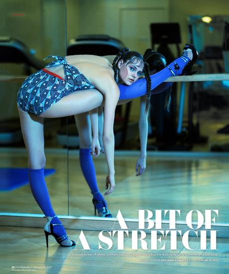 "Nataliya Bulycheva for SCMP Post in ""A Bit of a Stretch"" by Benjamin Kanarek"