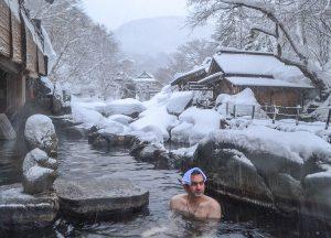 Allan Wilson, Osenkaku Ryokan Takaragawa Onsen in Winter Snow