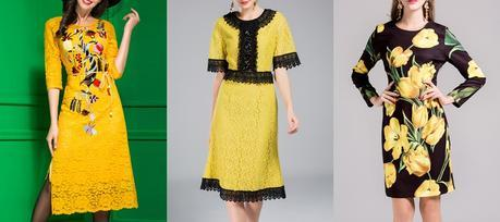 Yellow dresses for spring summer